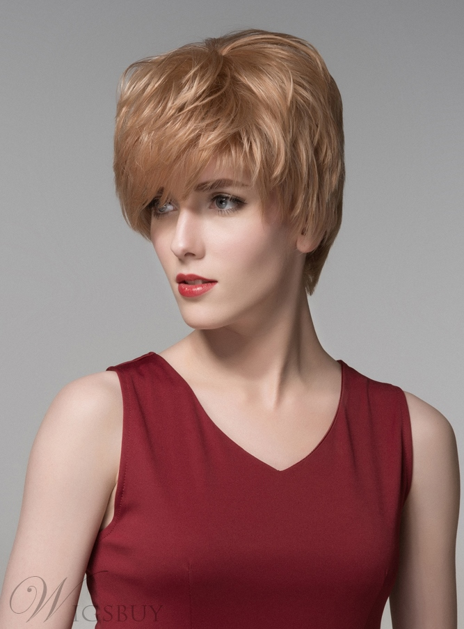Mishair? New Layered Short Straight Capless Human Hair Wig 6 Inches 11676727