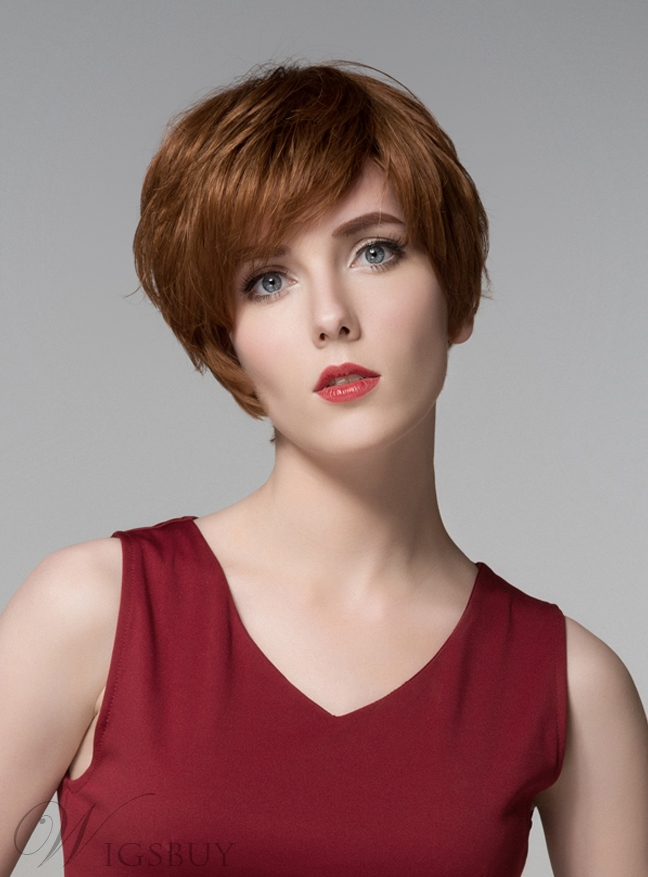Mishair? Elegant Short Straight Capless Human Hair Wig 6 Inches 11676728