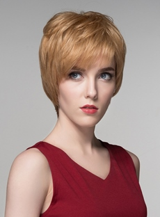 Mishair® Layered Short Charming Human Hair Capless Wig 6 Inches