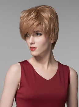 Mishair® New Layered Short Straight Capless Human Hair Wig 6 Inches