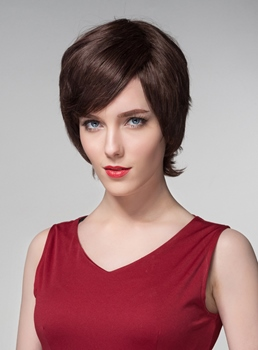 Mishair® Short Beautiful Human Hair Capless Wig 6 Inches