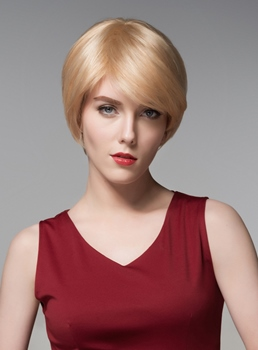 Mishair® Fashionable Short Straight Capless Human Hair Wig 6 Inches