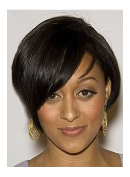 Tia Mowry Short Straight Capless Synthetic Hair Wigs 10 Inches