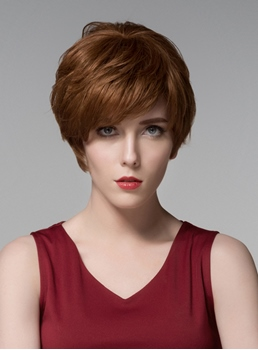 Mishair® Elegant Short Straight Capless Human Hair Wig 6 Inches