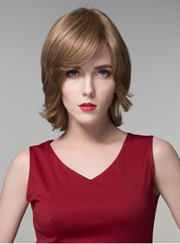 Mishair® Graceful Medium Bottom Wave Capless Human Hair Wig 14 Inches