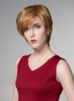 Mishair® Layered Short Straight Capless Human Hair Wig 6 Inches