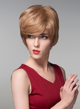 Mishair® Top Quality Short Straight Capless Human Hair Wig 6 Inches