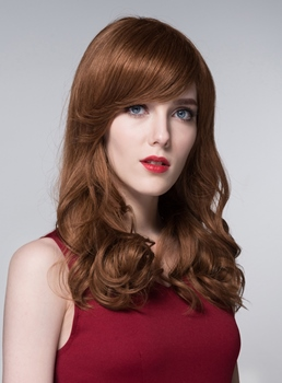 Mishair® Sweet Long Wavy Human Hair Capless Wigs 24 Inches