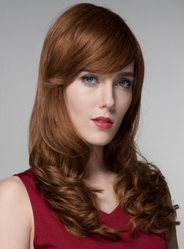 Mishair® Sexy Long Wavy Human Hair Wigs 24 Inches