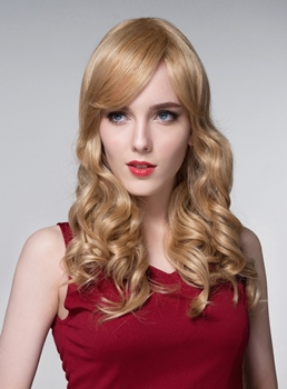 Mishair® Sexy High Quality Long Wavy Human Hair Wigs 24 Inches