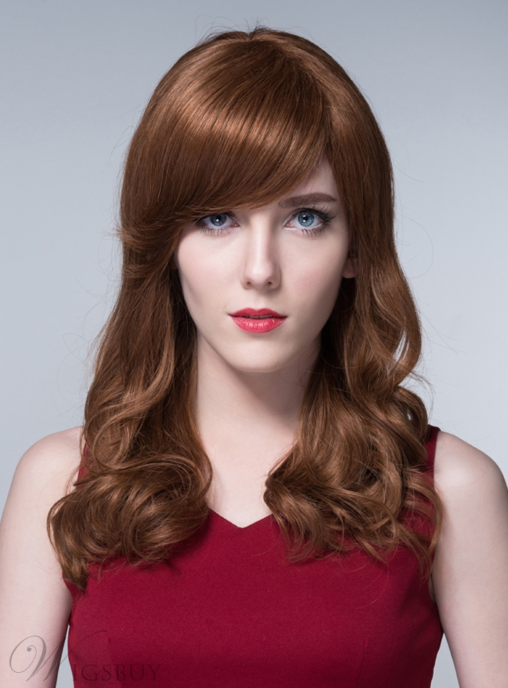 Mishair? Sweet Long Wavy Human Hair Capless Wigs 24 Inches 11673294
