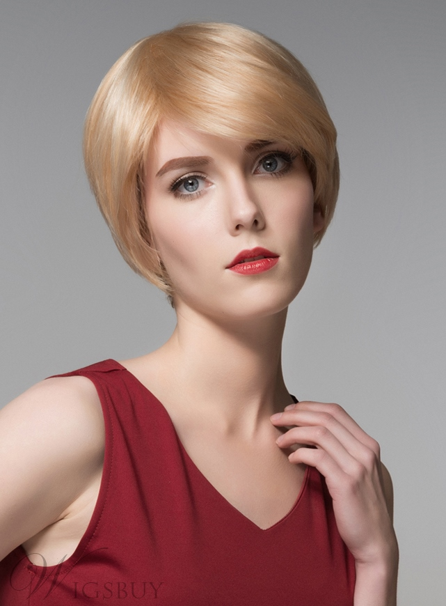 Mishair? Fashionable Short Straight Capless Human Hair Wig 6 Inches 11676729