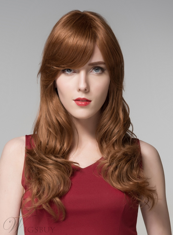Mishair® Attractive Long Wavy Capless Human Hair Wig 22 Inches 11676731