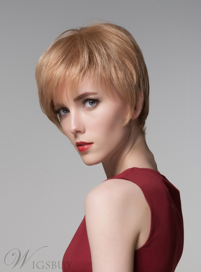 Mishair® Youthful Short Straight Capless Human Hair Wig 6 Inches 11775786