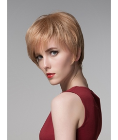 Mishair® Youthful Short Straight Capless Human Hair Wig 6 Inches