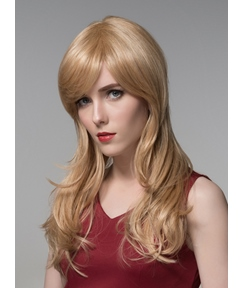Mishair® Sweety Long Wavy Capless Human Hair Wig 22 Inches