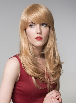 Mishair® Layered Long Straight Capless Human Hair Wig 22 Inches