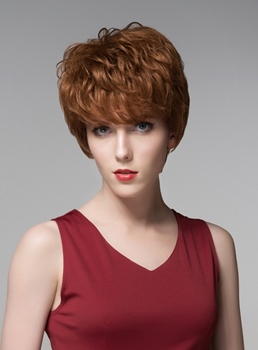 Mishair® Charming Short Straight Human Hair Wig 6 Inches