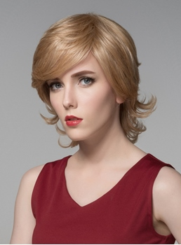 Mishair® Cute Short Bottom Wave Capless Human Hair Wig 8 Inches