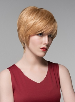 Mishair® Fashionable Short Straight Human Hair Capless Wig 6 Inches