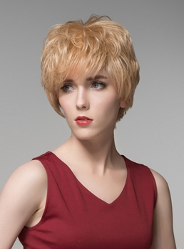 Mishair® Fashionable Layered Short Straight Capless Human Hair Wig 6 Inches
