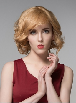 Mishair® Sweety Short Wavy Capless Human Hair Wig 10 Inches