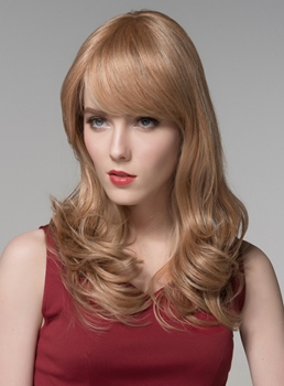 Mishair® Elegant High Quality Long Loose Wavy Human Hair Wigs 24 Inches