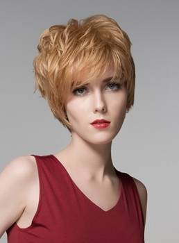 Mishair® Hot Layered Short Straight Capless Human Hair Wig 6 Inches
