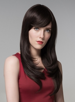 Mishair® Elegant High Quality Long Straight Human Hair Wigs 24 Inches