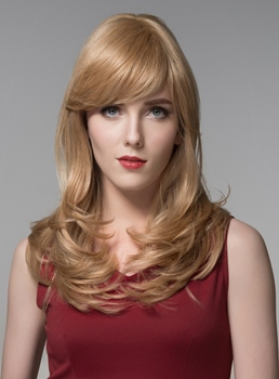 Mishair® Charming Long Wavy Capless Human Hair Wig 22 Inches