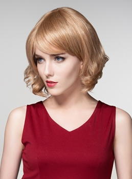 Mishair® Wavy Short BOB Human Hair Capless Wigs 12 Inches