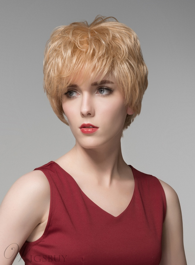 Mishair® Fashionable Layered Short Straight Capless Human Hair Wig 6 Inches 11680785