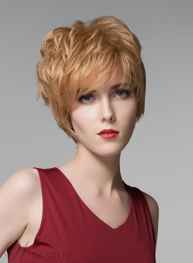 Mishair® Hot Layered Short Straight Capless Human Hair Wig 6 Inches 11903216