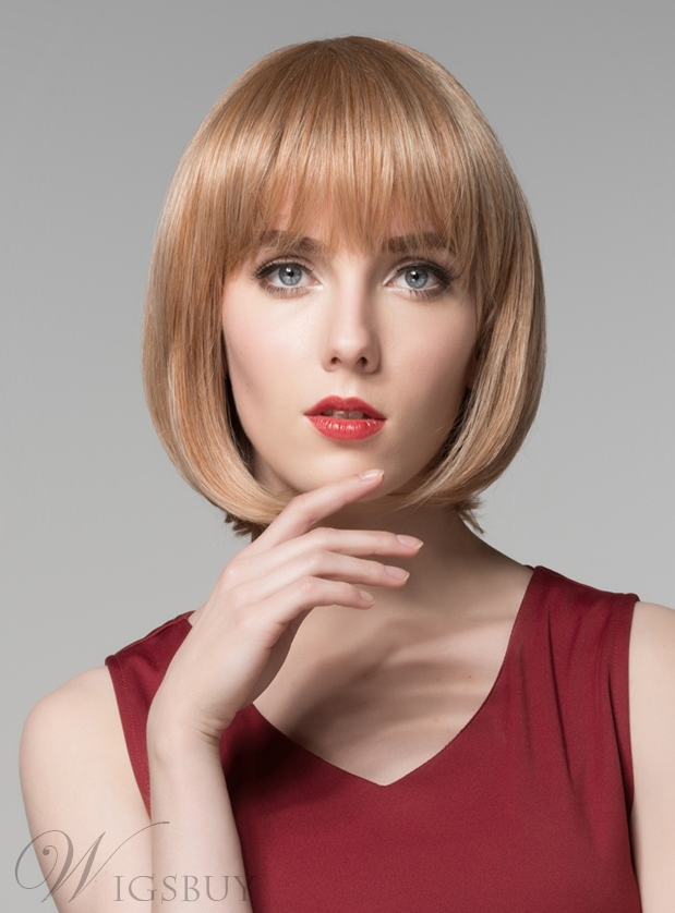 Mishair? Short Bob Straight Capless Human Hair Wig 10 Inches 11681468
