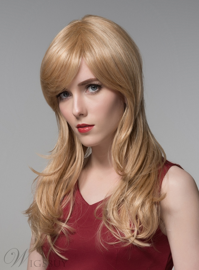 Mishair® Sweety Long Wavy Capless Human Hair Wig 22 Inches 11680789