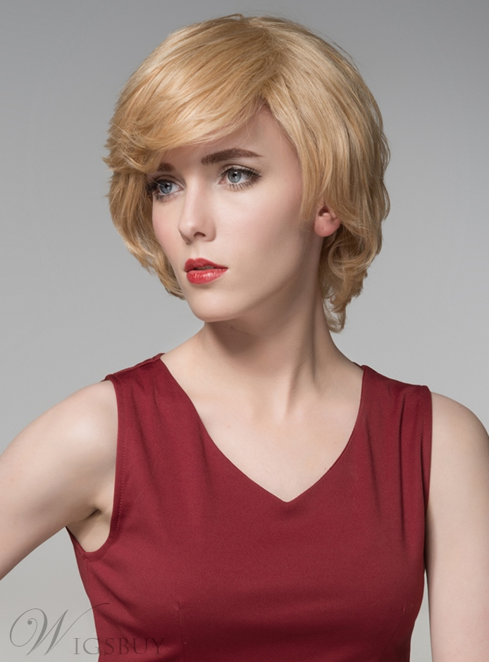 Mishair? Layered Short Straight Charming Human Hair Capless Wig 8 Inches 11773904