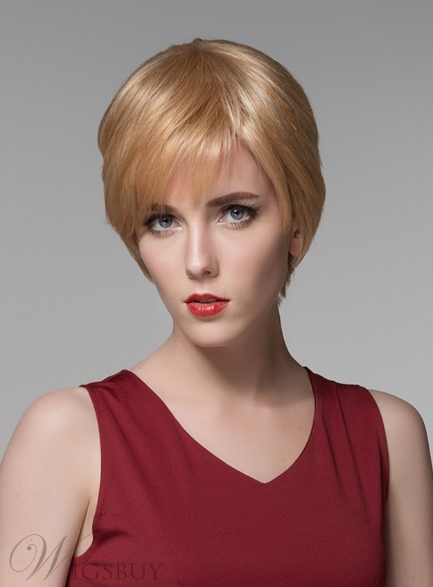 Mishair? Cute Short Straight Capless Human Hair Wig 6 Inches 11775789