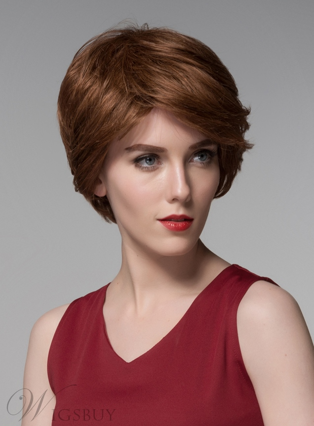 Mishair® Elegant Layered Short Straight Human Hair Capless Wig 6 Inches 11775791