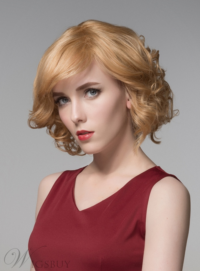 Mishair? Sweety Short Wavy Capless Human Hair Wig 10 Inches 11681467