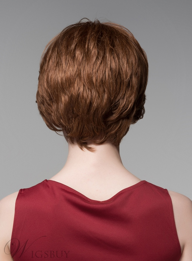 Mishair® Elegant Layered Short Straight Human Hair Capless Wig 6 Inches
