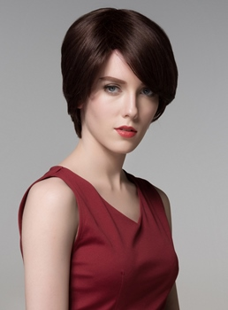 Mishair® Short Charming Human Hair Capless Wig 6 Inches