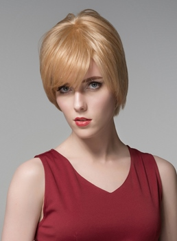 Mishair® Human Hair Capless Short Wigs 6 inches