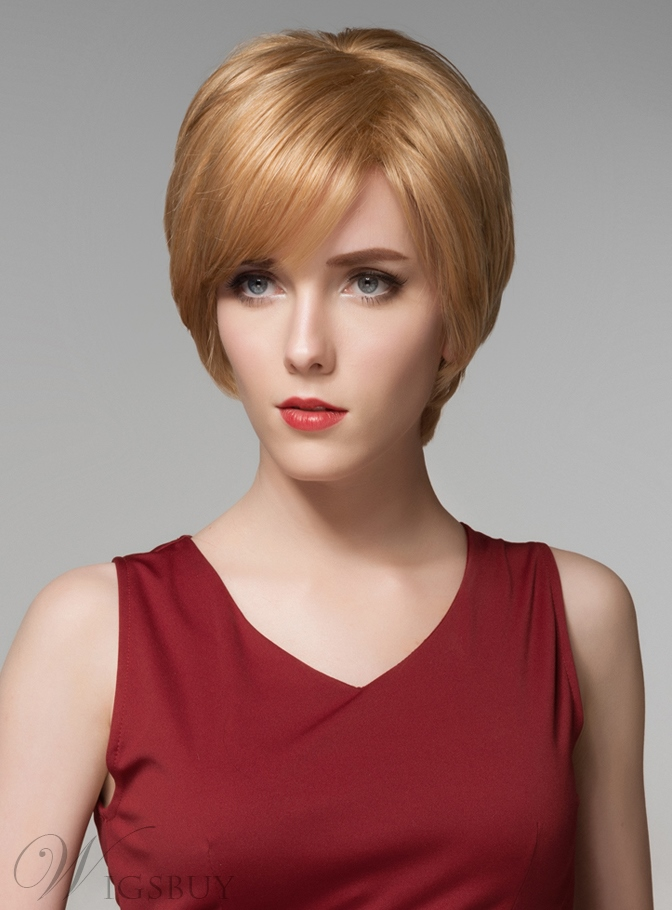Mishair? Short Straight Human Hair Capless Wig 6 Inches 11846824