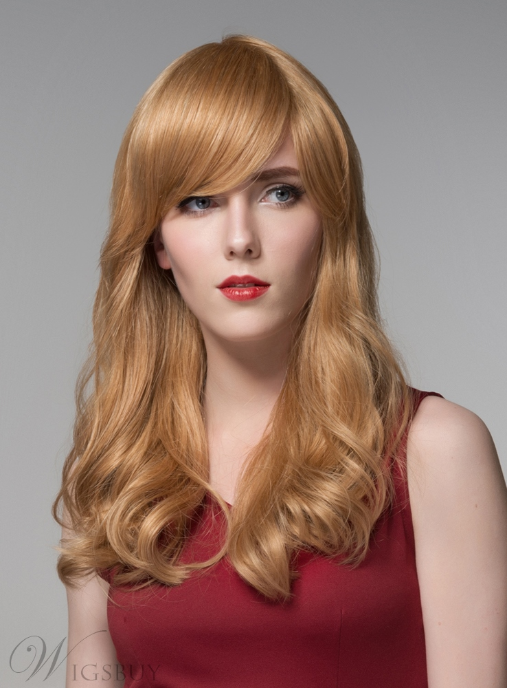 Mishair® Elegant Long Wavy Capless Human Hair Wig 22 Inches 11919973