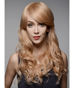 Mishair® Long Blonde Loose Wave Human Hair Wigs 22 Inches