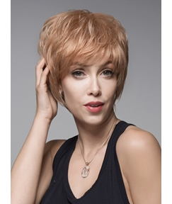Mishair® Cute Layered Short Straight Capless Human Hair Wig 6 Inches