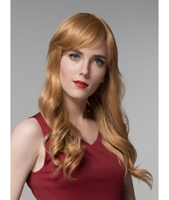 Mishair® Charming Long Wavy Capless Human Hair Wig 24 Inches