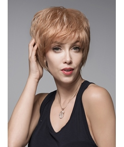 Mishair® Fashionable Short Capless Straight Human Hair Wig 6 Inches