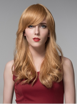 Mishair® Elegant Long Wavy Capless Human Hair Wig 22 Inches