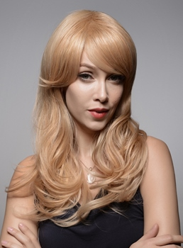 Mishair® Light Golden Charming Wavy Human Hair Capless Wig 22 Inches